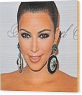 Kim Kardashian At Arrivals For The Wood Print by Everett