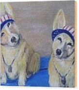 Kipper And Tristan Wood Print by Trudy Morris