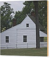 Kitchen And Slave Quarters Appomattox Virginia Wood Print by Teresa Mucha