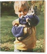 Kitty Love Wood Print by Barbara Hymer