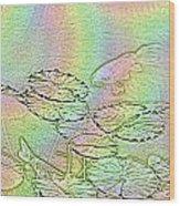 Koi Rainbow Wood Print by Tim Allen