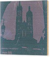 Krakow Wood Print by Naxart Studio