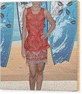 Kristen Bell Wearing A Stella Mccartney Wood Print by Everett
