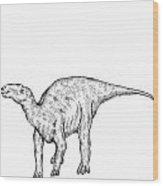 Kritosaurus - Dinosaur Wood Print by Karl Addison