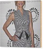 Kyra Sedgwick Wearing An Antonio Wood Print by Everett