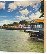 Lahaina Post Card 2 Wood Print by Kelly Wade