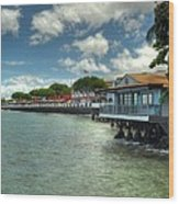 Lahaina Postcard 3 Wood Print by Kelly Wade