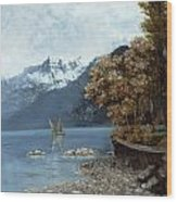 Lake Leman Wood Print by Gustave Courbet