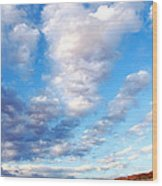 Lake Powell Clouds Wood Print by Thomas R Fletcher