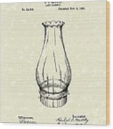 Lamp Chimney 1895 Patent Art Wood Print by Prior Art Design