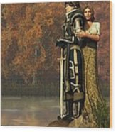 Lancelot And Guinevere Wood Print by Daniel Eskridge