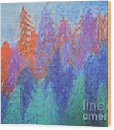 Landscape- Color Palette Wood Print by Soho