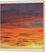 Las Cruces Sunset Wood Print by Jack Pumphrey