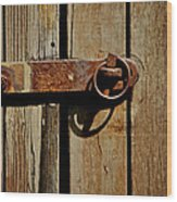 Latch Wood Print by Odd Jeppesen