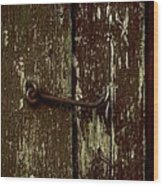 Latch Wood Print by The Stone Age