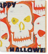 Laughing Skull Wood Print by Jame Hayes