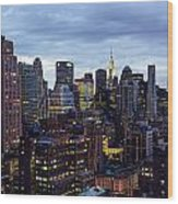 Life In The Big City Wood Print by Janet Fikar