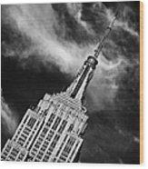 Like A Rocket Ship Heading To The Moon Wood Print by John Farnan