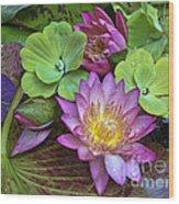 Lilies No. 28 Wood Print by Anne Klar