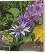 Lilies No. 39 Wood Print by Anne Klar