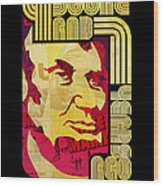 Lincoln 4 Score On Black Wood Print by Jeff Steed