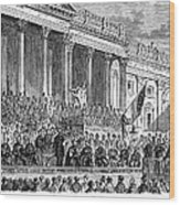 Lincolns Inauguration, 1861 Wood Print by Granger