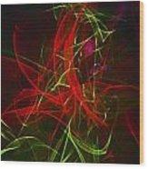 Liquid Saphire 7 Wood Print by Cyryn Fyrcyd