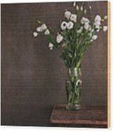 Lisianthus Flowers Wood Print by Paul Grand Image