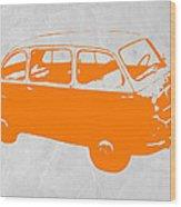Little Bus Wood Print by Naxart Studio