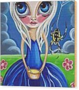 Little Miss Muffet Wood Print by Jaz Higgins