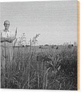 Lloyd Owens On His Farm Wood Print by Jan W Faul