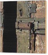 Lock Of Church. France Wood Print by Bernard Jaubert