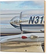 Lockheed Jet Star Engine Wood Print by Lynda Dawson-Youngclaus