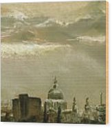 London City Dawn 2 Wood Print by Paul Mitchell