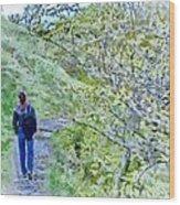Lonely Path Wood Print by Jeff Kolker