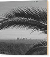 Los Angeles Skyline From Hollywood Hills Wood Print by Mike Shaffer