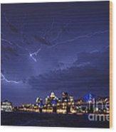 Louisville Storm - D001917b Wood Print by Daniel Dempster