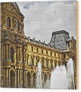 Louvre Wood Print by Elena Elisseeva
