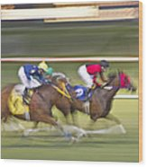 Love Of The Sport Wood Print by Betsy Knapp