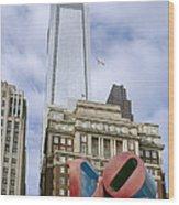 Love Park - Center City - Philadelphia  Wood Print by Brendan Reals