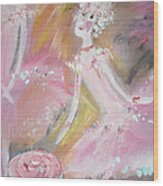 Love Rose Ballet Wood Print by Judith Desrosiers