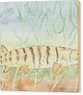 Lurking Tiger Wood Print by David Crowell