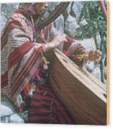 Lute Player Wood Print by Photo Researchers, Inc.