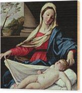 Madonna And Child  Wood Print by II Sassoferrato