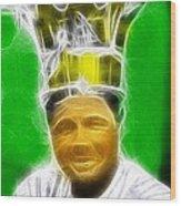 Magical Babe Ruth Wood Print by Paul Van Scott