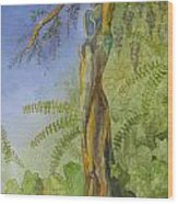 Maiden - Earth Mother Iv   Wood Print by Patsy Sharpe