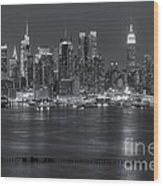 Manhattan Twilight Vii Wood Print by Clarence Holmes