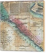Map Of The West Coast Of Africa Wood Print by Everett