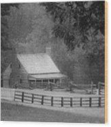 Mariah Wright House Appomattox Virginia Wood Print by Teresa Mucha