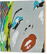 Marilyn Monroe Wood Print by Micah May